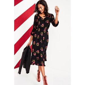 30732505893 Old Navy Dresses - NWT Old Navy Floral Waist defined crepe Midi Dress